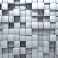 Серые кубики (ширина: 4000 см, высота: 2800 см, количество полос: 4)